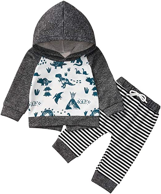 Newborn Boy Clothes Winter Set,Cartoon Pullover Hoodie T-Shirt Tops+Pants Outfits Sets,Baby Outfits Unisex Newborn
