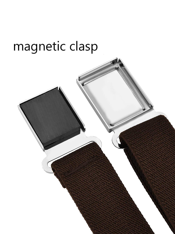 Gejoy 6 Pieces Kids Belt Adjustable Belt Stretchy Belt with Magnetic Buckle for Kids Supplies Assorted Colors