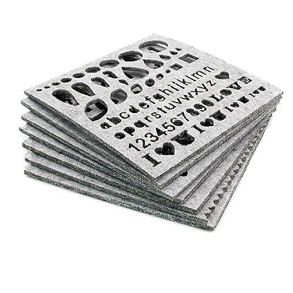 7 piezas de plantillas de fieltro de agujas para principiantes, herramienta de manualidades, incluye