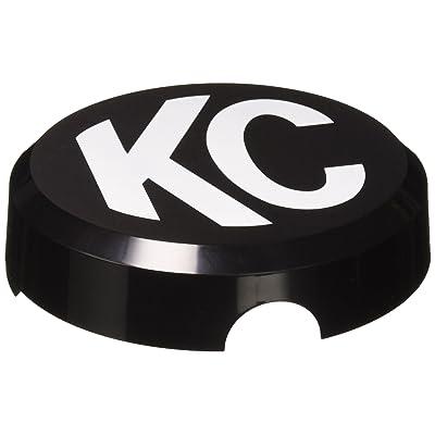 "KC HiLiTES 5105 6"" Round Black Plastic Light Cover w/ White KC Logo - Single Cover: Automotive"