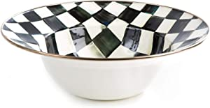 MacKenzie-Childs Courtly Check Serving Bowl, Large 12-Inch Serving Dish, Enamel Kitchenware Line
