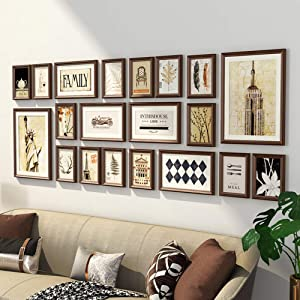 Collage Picture Frame Set,with Decorative Art Prints Hanging Template Photo Wal for Sofa Backdrop Tv Wall Background-e 196x73cm(77x29inch)