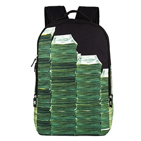 Tofern Unique Fashion patrones de letras niños niñas mochila escolar casual mochila viaje PC hombro Pack