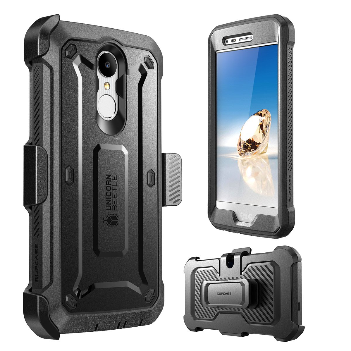 SupCase Unicorn Beetle Pro Case for LG Aristo 2 Plus/LG Aristo 2 / Tribute Dynasty/Fortune 2/ Rebel 3 LTE, with Built-in Screen Protector for LG ...