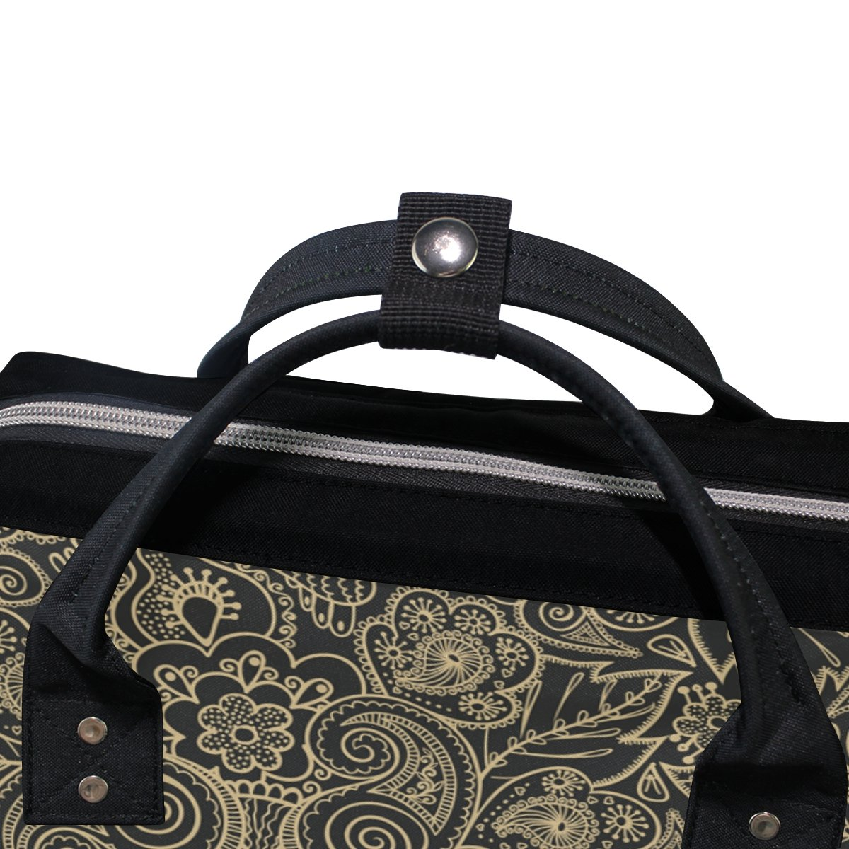 Diaper Bags Backpack Mummy Backpack with Seamless European Floral Textures Travel Laptop Daypack