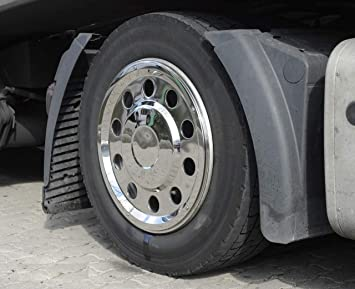 Camiones Tapacubos 22,5 recta Acero Inoxidable