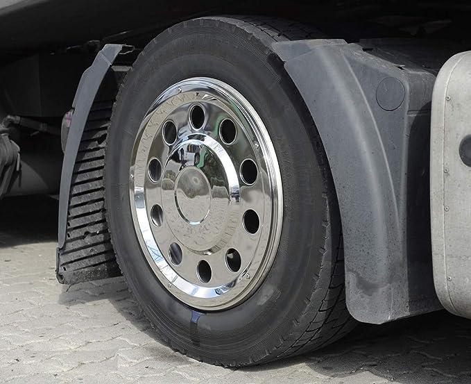 Camiones Tapacubos 22,5 recta Acero Inoxidable: Amazon.es: Coche y moto