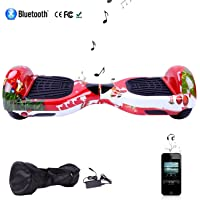 """Cool&Fun 6.5"""" Hoverboard Patinete Eléctrico Scooter Talla LED 350W*2 Bluetooth"""