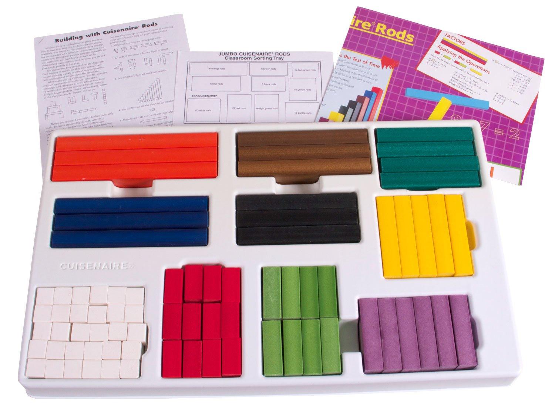 hand2mind Plastic Jumbo Cuisenaire Rods Classroom Bulk Kit (Set of 154)