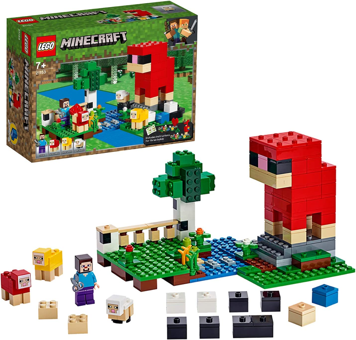 LEGO 21153 Minecraft The Wool Farm Adventures Building Set with Sheep and Steve 35% OFF £13 @ Amazon