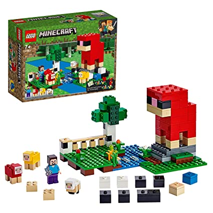Lego 21153 Minecraft Wool Farm Adventures Sheep Figures And Steve Minifigure Building Set
