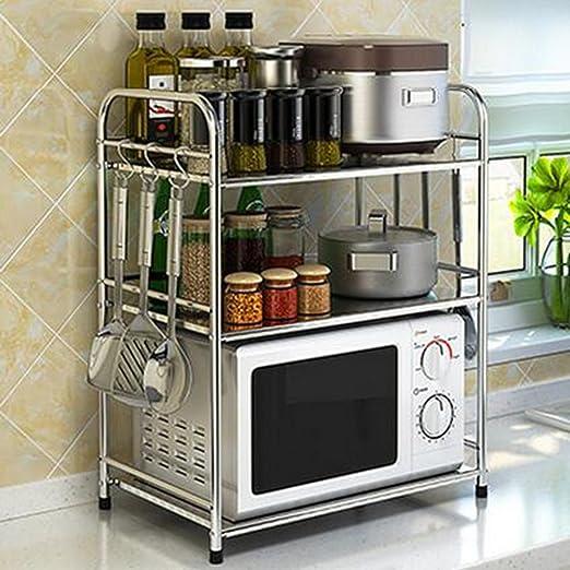 Kuchenregal Zcjb 3 Tier Edelstahl Microwelle Ofen Haus Regal Kuche