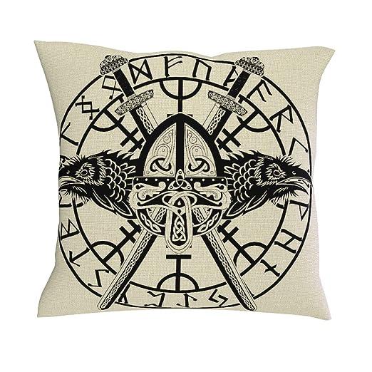 HoodBA Funda de cojín con diseño de Espadas Cruzadas y Cuervos ...