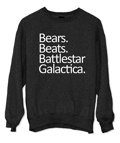 Amazoncom Bears Beats Battlestar Galactica Sweatshirt Clothing
