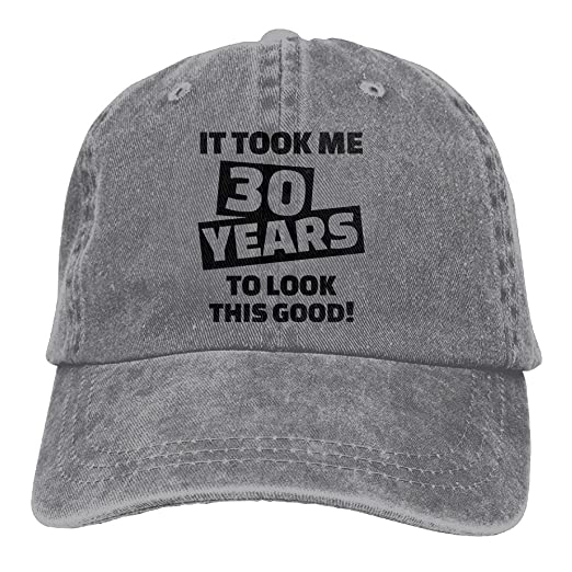Muchess Unisex Adult 30th Birthday Word Vintage Adjustable Cowboy Baseball Cap Denim Caps At Amazon Mens Clothing Store