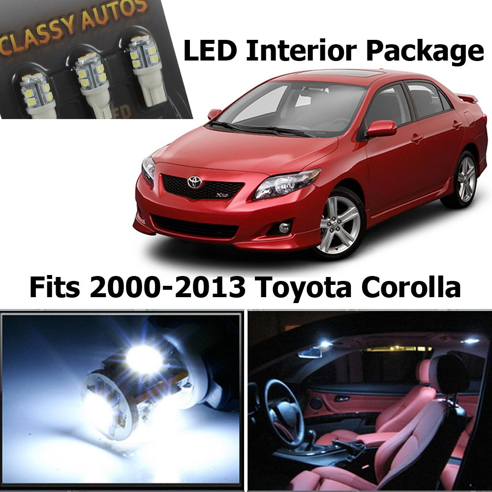 Classy Autos Toyota Corolla White Interior Led Package 2010 S Fuse Box 6 Pieces Automotive