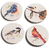 Big Sky Carvers Dean Crouser Watercolor Songbird Coasters, Set of 4