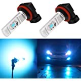 Alla Lighting 3600lm Xtreme Super Bright H16 H8 H11 LED Fog Light Bulbs 8000K Ice Blue 12V ETI 56-SMD DRL Replacement…