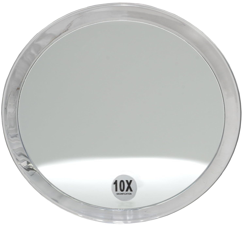 Fantasia - lupa espejo, un aumento de 10x, de acrílico transparente, con ventosas, 23 cm 41035