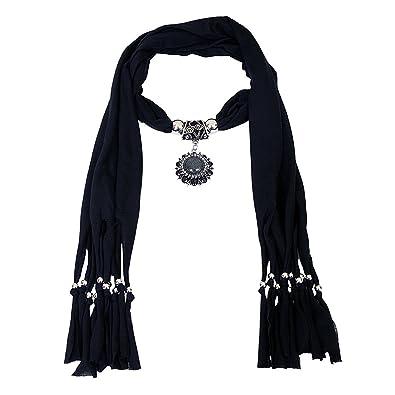 Buy scarf necklace black dupatta stole muffler wrap scarf necklace scarf necklace black dupatta stole muffler wrap scarf necklace scarf pendant scarf scarves for girls women aloadofball Images