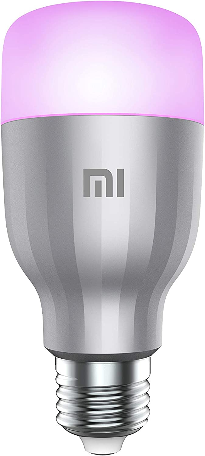 Xiaomi Bombilla de color Mi LED, WiFi (no requiere HUB), compatible con Google Home, Alexa y Apple HomeKit, E27, 10 W, 800 lm