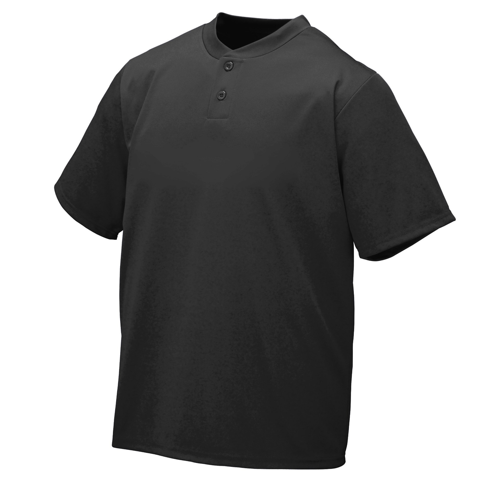 Augusta Sportswear Wicking Two-Button Jersey 3XL Black by Augusta Sportswear