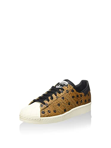 buy online c1656 881c0 adidas Damen Superstar 80S W Gymnastikschuhe, Marrone Nero, 40 EU