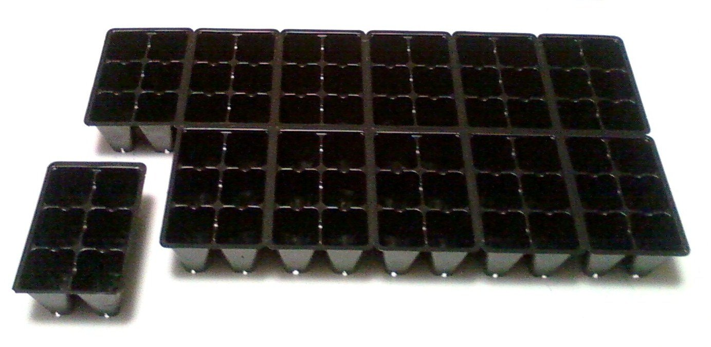 25 Quantity 72 Cell Insert Sheets 1800 Cells Total Seedling Seed Starter Trays