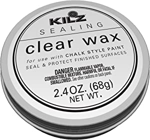 KILZ L644032 Protective Sealing Painted Furniture, 2.4 oz, Clear Wax