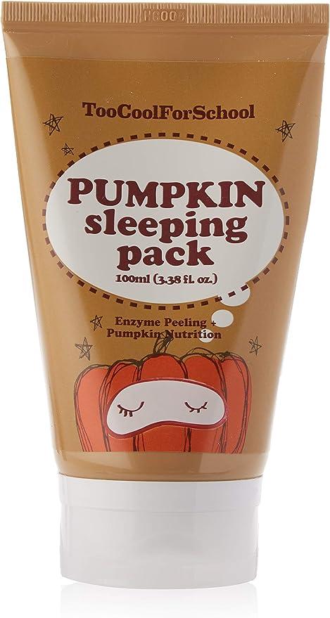Too Cool for School Pumpkin Sleeping Pack, Mascarilla Facial ...