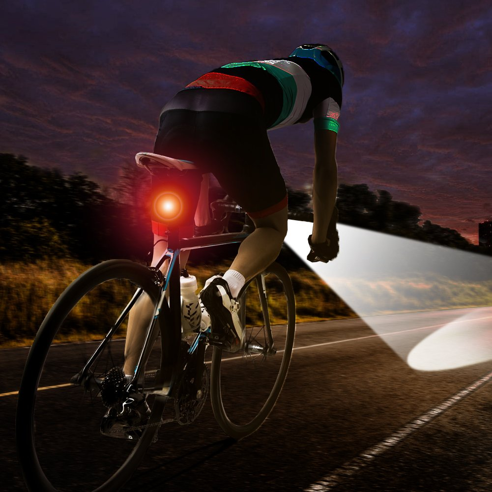 Capacidad de la Bater/ía de 4000mAh,Impermeable Luz de Bicicleta USB Recargable Luces para Bicicletas 3 Modos De Iluminaci/ón 500LM /ángulo de Haz Ancho luz de La Bici LED