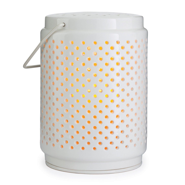 Candle Warmers Etc. Premium Ceramic Candle Warmer Lantern, Chelsea