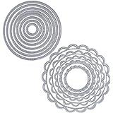 JNCH 2 Set 13pz Fustelle Stencil Cutting Dies per DIY Scrapbooking Album di Carta della Carta del Mestiere Biglietti per Goffratura Cerchio Fustelle