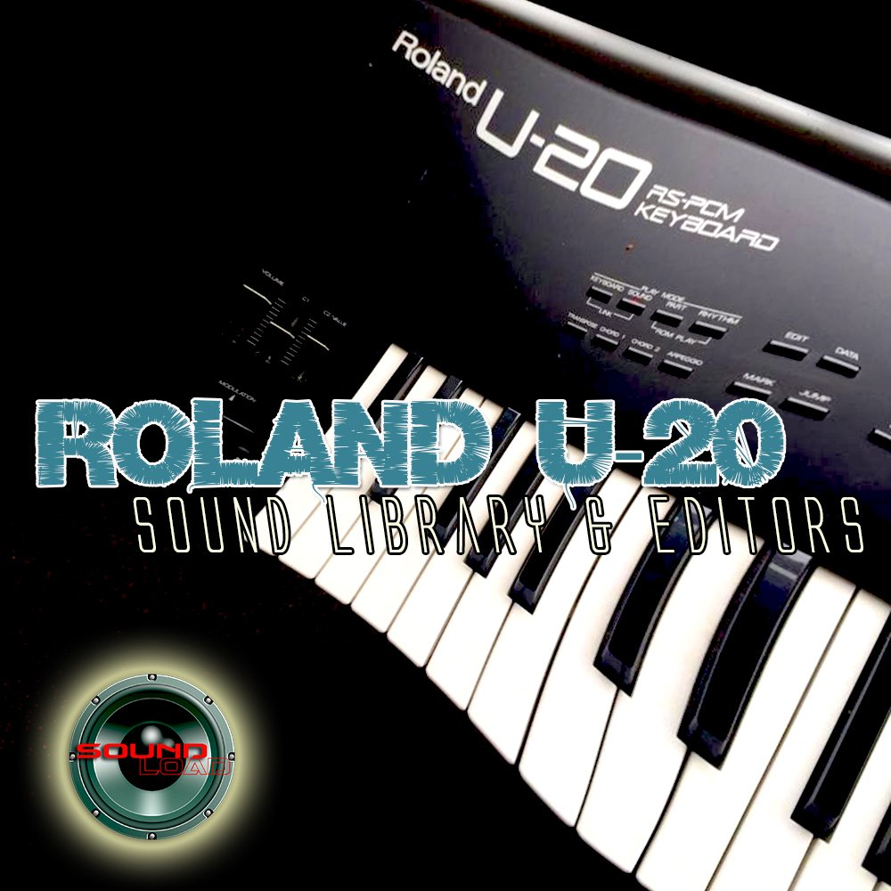 for ROLAND U-20 Huge Original Factory and NEW Created Sound Library & Editors on CD or download