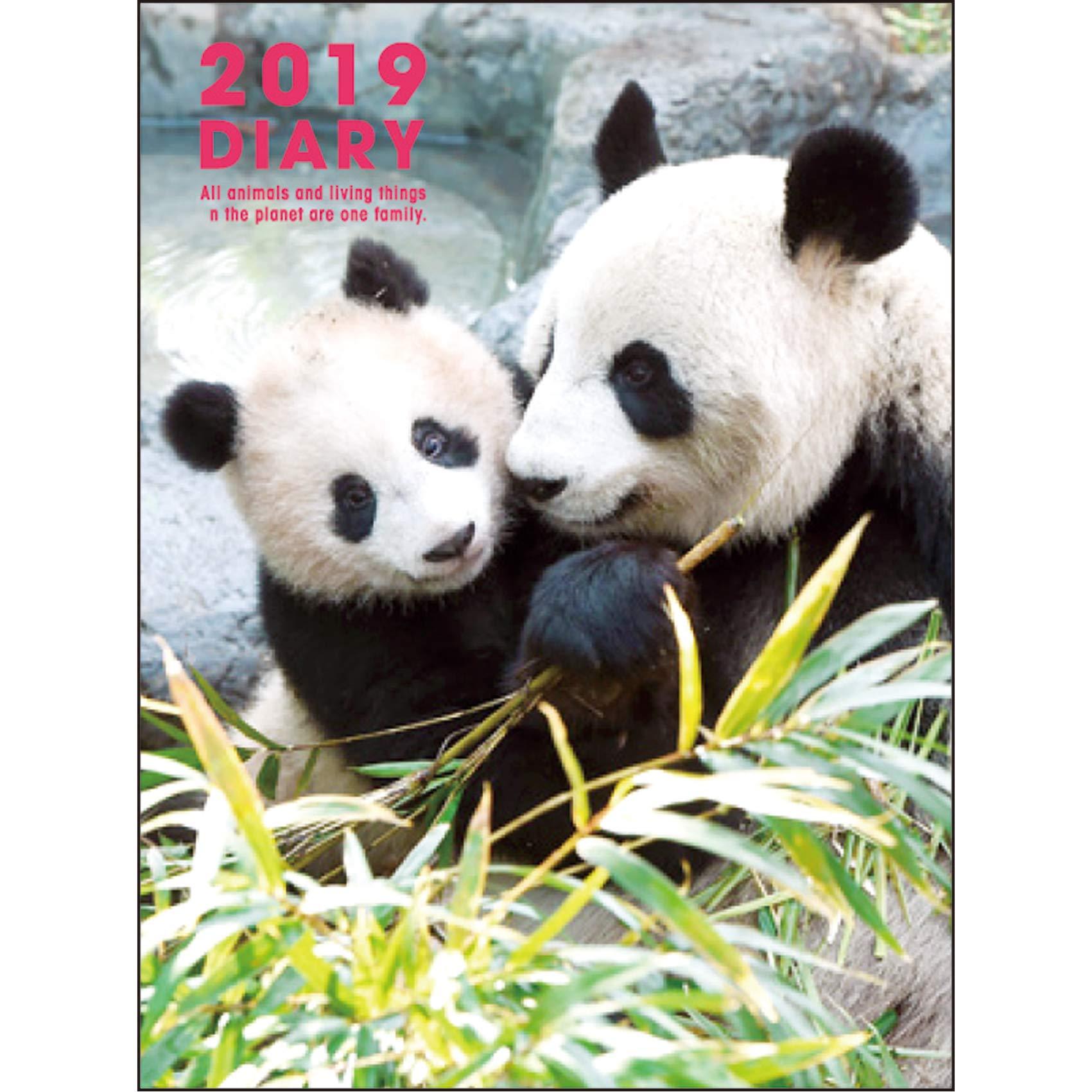 グリーティングライフ パンダ手帳 2019年 A6 ソフトカバー マンスリー CD-773-PA 2018年 12月始まり