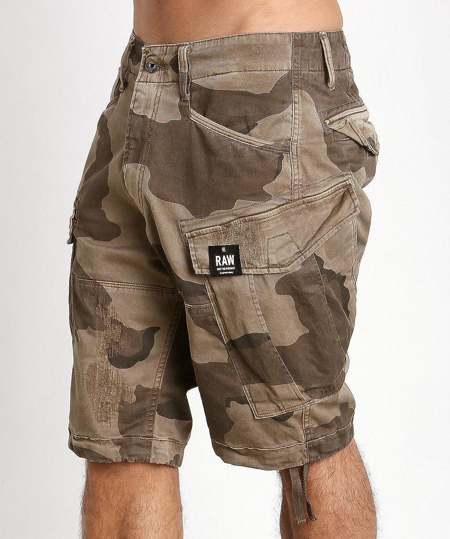 G-Star Raw Mens Rovic Loose 1//2 Shorts Khaki