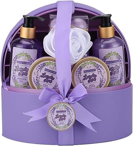 Cestas de regalo de spa para mujeres, set de regalo de baño y cuerpo para ella