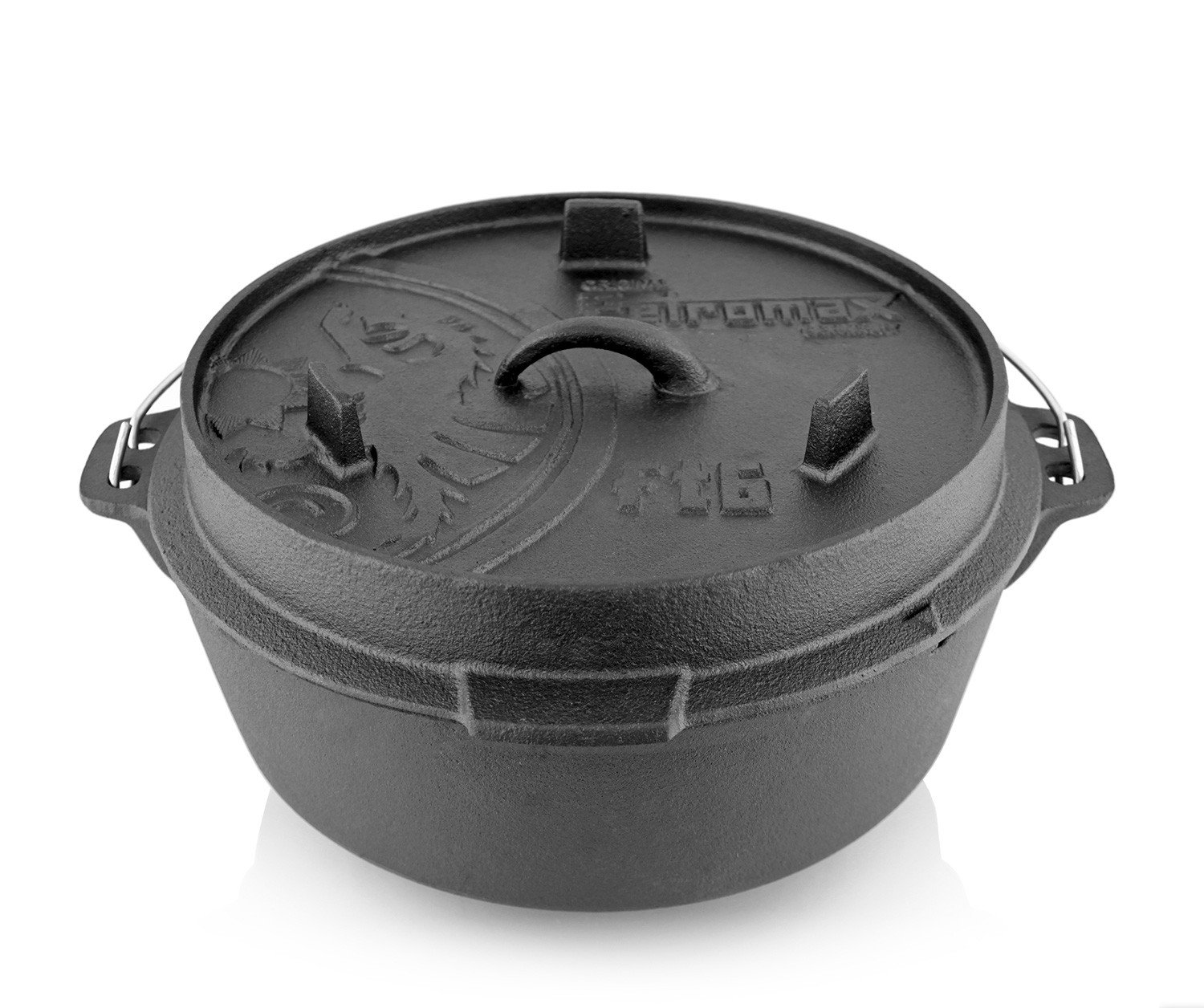 Petromax Cast Iron Dutch Oven with Flat Base - 5.8 Qt