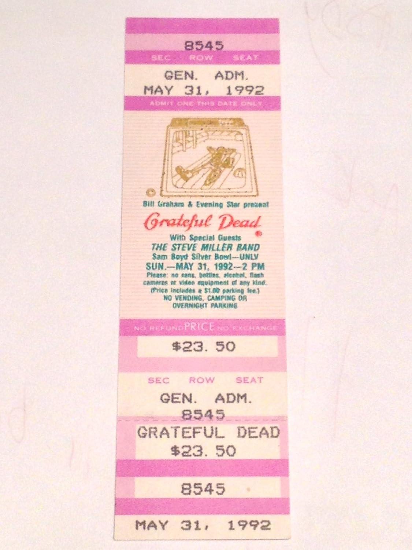 Grateful Dead Las Vegas Unused Ticket 5/31/92 Steve Miller