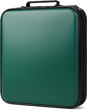 Bageek Porta CD Estuche CD DVD de 160 Disco DVD Bolsas Almacenamiento Disco Duro portátil (Azul: Amazon.es: Electrónica