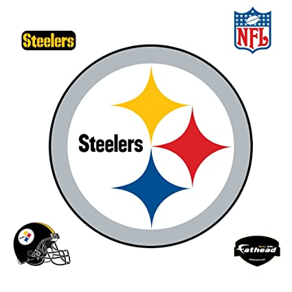 amazon com fathead pittsburgh steelers logo wall decal sports rh amazon com show pictures of steelers logo pictures of pittsburgh steelers logo