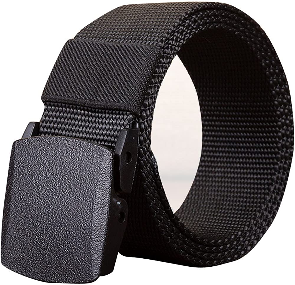Leather Belt Dingji Mens Outdoor Sports Nylon Waistband Canvas Web Belt