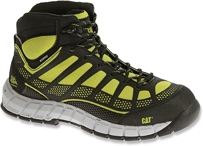 Caterpillar STREAMLINE MID WP Composite Toe Waterproof Womens Work Lime Boots