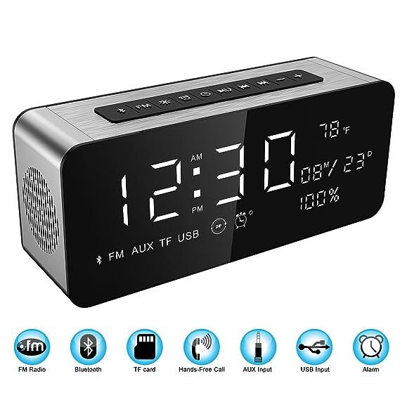 Amazon.com: Soundance Alarm Clock FM Radio Bluetooth Speaker with HD ...