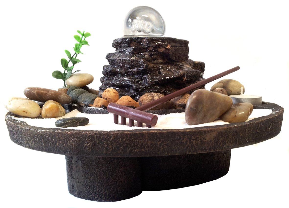 Giardino zen da tavolo giardino zen nero regalo pietre for Fontana zen