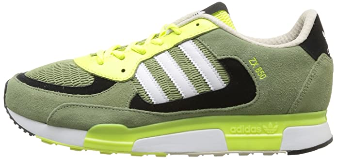 f0caca5e9c2f0 adidas Originals Mens ZX 850-7 Trainers D65237 ST Tent Green Running White  FTW Electricity 12 UK