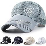 キャップ, メッシュキャップ 通気性抜群 速乾 軽薄 日よけ ランニング 帽子 カジュアル アウトドア 山登り 釣り ゴルフなどに メッシュ帽 メンズ 男女兼用