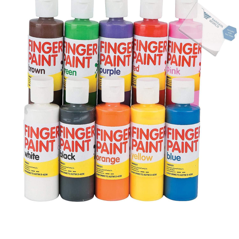 Bargain World Washable Finger Paint Set - 4 oz. (With Sticky Notes)