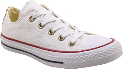 Converse Womens Chuck Taylor All Star Ox White Casino Canvas Trainers 6.5 US