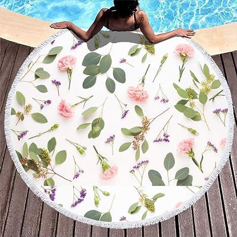 wangjizhouyabo-Towel Tapiz de Yoga Redondo superabsorbente ...